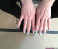 I Need This To Live: Light Blue Nail Polish at Oscar de la Renta's Fall 2012 Show #NYFW
