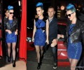 GLAM OR SHAM?: Katy Perry's Paris Hervé Léger Blue Cut-Out Minidress
