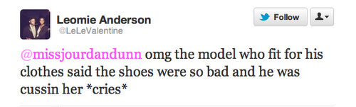 Leomie Anderson tweet screenshot
