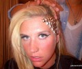 CALL THE GLAMBULANCE: Ke$ha Shows Off New Gold Studded Hairstyle