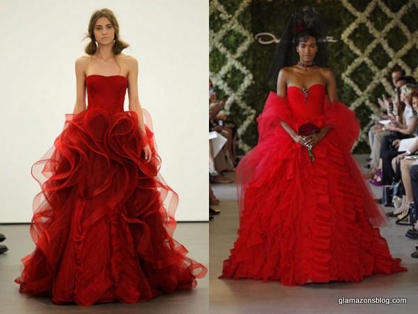 Red Fall Wedding Dresses