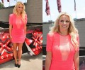 Steal Her Look: Britney Spears' Austin X-Factor Auditions Brian Lichtenberg Scuba Zipper Dress and Yves Saint Laurent Tribtoo Glitter Pumps