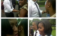 Glamazon Jessica Meets President Barack and Michelle Obama! PLUS Get Her Boy by Band of Outsiders Dress