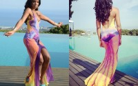 "Ask The Glamazons: Kelly Rowland's Summer Dreaming Video Shoot Maria Grachvogel Rainbow ""Phoenix"" Gown"