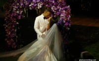 GLAM OR SHAM?: Meagan Good's Custom R-Mine Bridal Couture Wedding Gown and Purple Train