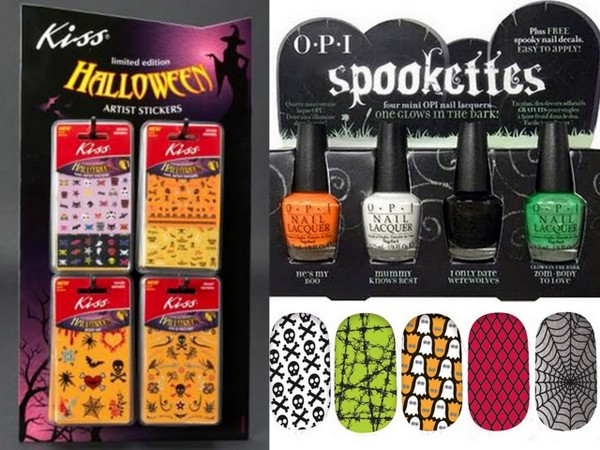 Fun Nail Ideas for Halloween from Sally Hansen, OPI and Kiss!