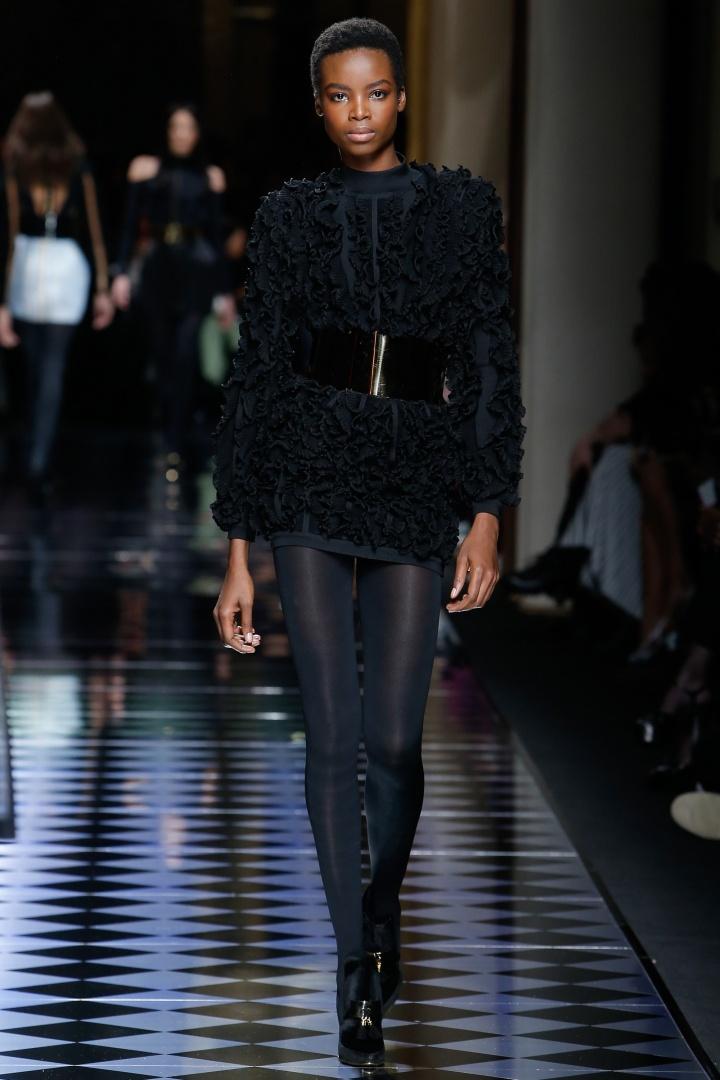 Balmain-Fall-2016-Embellished-Cinched-Mini-Dress-Fashion-Glamazonsblog