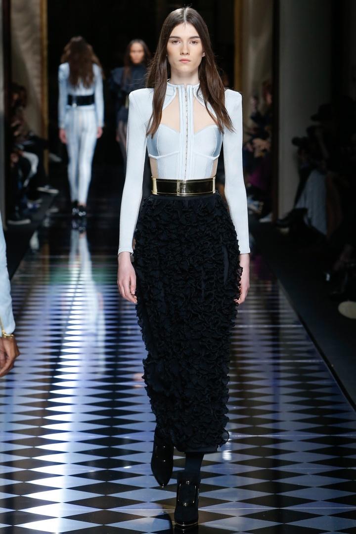 Balmain-Fall-2016-Embellished-Skirt-Fashion-Glamazonsblog