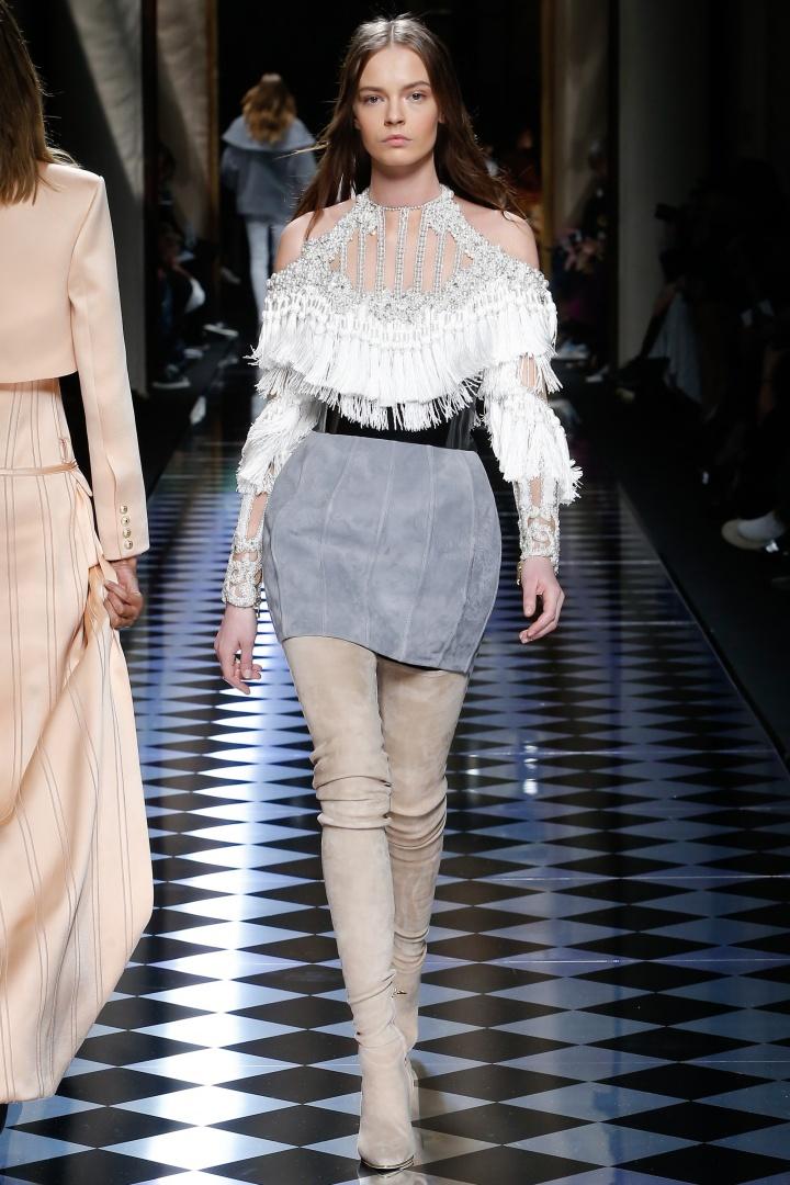 Balmain-Fall-2016-Tassled-Accents-Padded-Skirt-Fashion-Glamazonsblog2