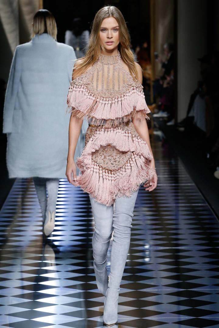 Balmain-Fall-2016-Tassled-Dress-Fashion-Glamazonsblog