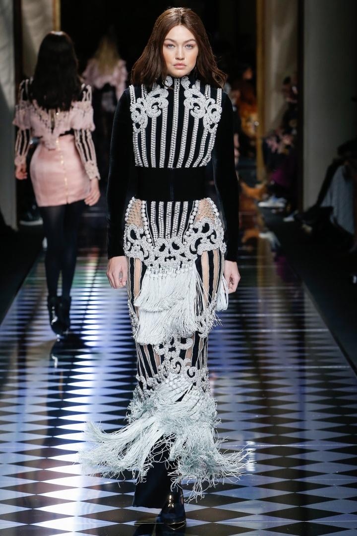 Balmain-Fall-2016-Tassled-Dress-Fashion-Glamazonsblog2