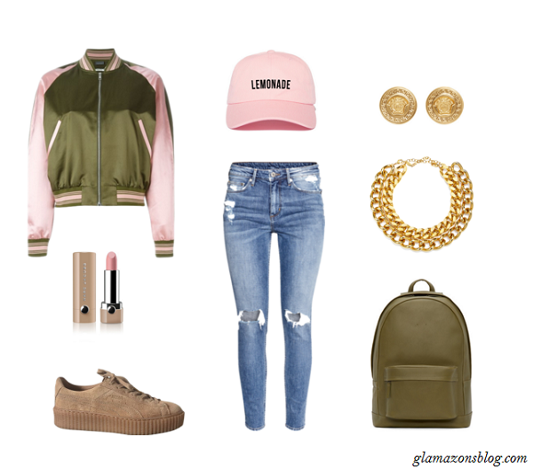 Bomber-Jacket-Baseball-Cap-Distressed-Denim-Creepers-Formation-Tour-Outfit-Glamazonsblog