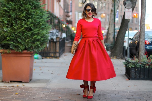 Color-Me-Courtney-Red-Midi-Skirt-Sweatshirt-Holiday-Party-Fashion-Glamazonsblog