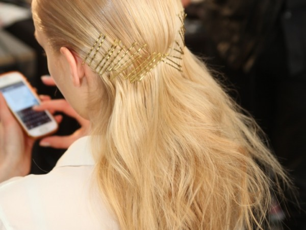 #NYFW Beauty: Super Slick Hair At Cushnie et Ochs Fall 2015 @Moroccanoil