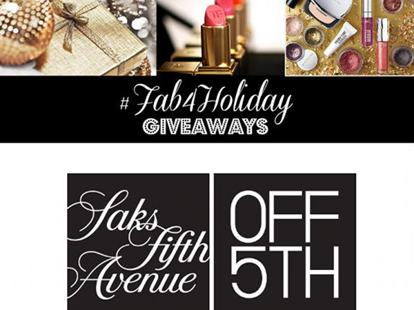 #Fab4Holiday Giveaway Day 4: Win Saks Off Fifth Gift Cards PLUS Holiday Party Picks!