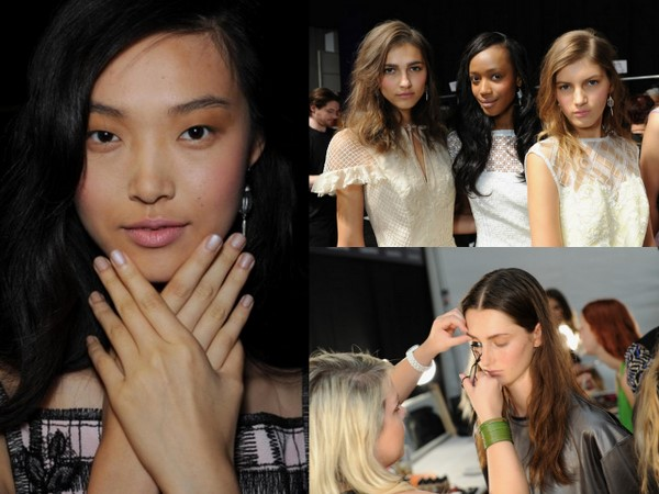 #NYFW Backstage Beauty: Tadashi Shoji Spring 2014 – Makeup by MAC and Nails by butter LONDON
