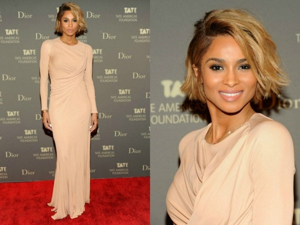 GLAM SLAM: Ciara Debuts New Bob and Rocks Sexy Nude Givenchy Gown To Tate Americas Foundation Artists Dinner