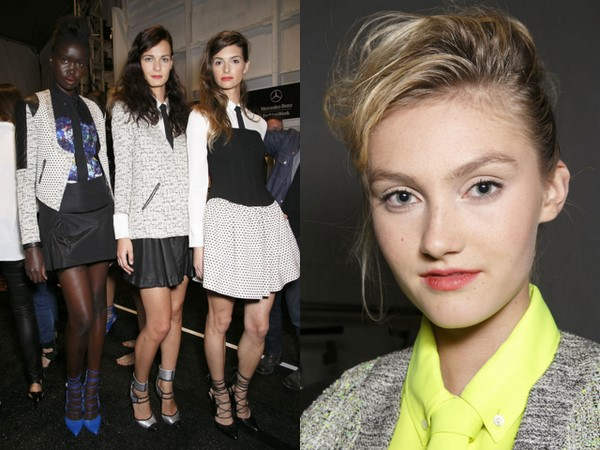 #NYFW Backstage Beauty: Marissa Webb Spring 2014 – Rocker Chic Updo & Tousled Waves