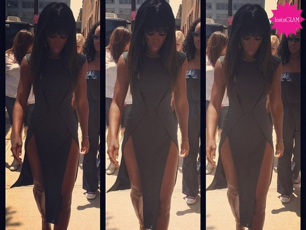 InstaGLAM: Kelly Rowland's Cushnie Et Ochs Fall 2013 Cutaway Dress for X-Factor Taping