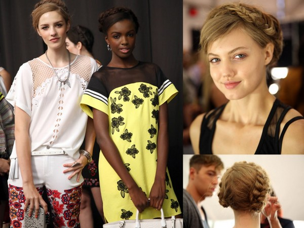 #NYFW Backstage Beauty: Rebecca Minkoff Spring 2014- Braided Updo