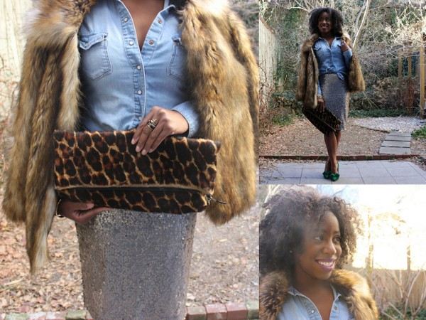 What I Wore: Sequins and Fur, Hunny!