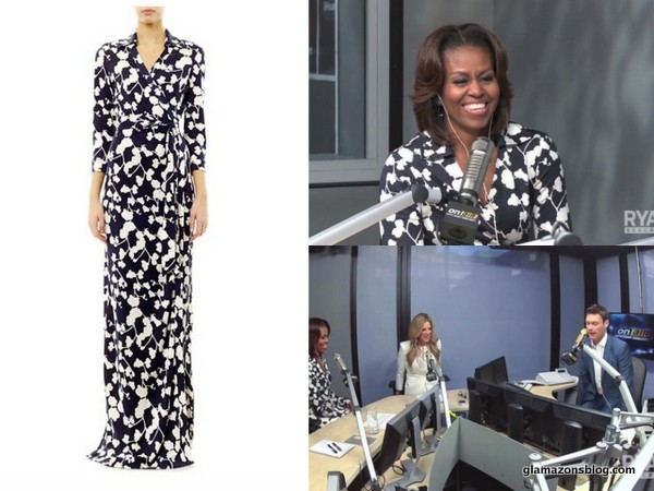 "Steal Her Look: Michelle Obama's ""On Air with Ryan Seacrest"" Diane Von Furstenberg 'Abigail' Wrap Dress"