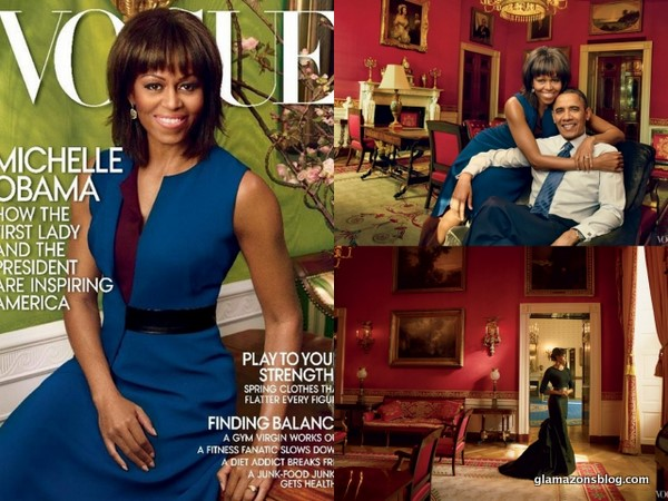 GLAM SLAM: Michelle Obama and Her Perfect Bangs Cover <i>Vogue</i> April 2013