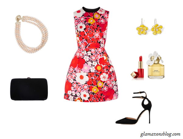 Easter-Sunday-Floral-Dress-Black-Clutch-Pointy-Toe-Heels-Fashion-Glamazonsblog