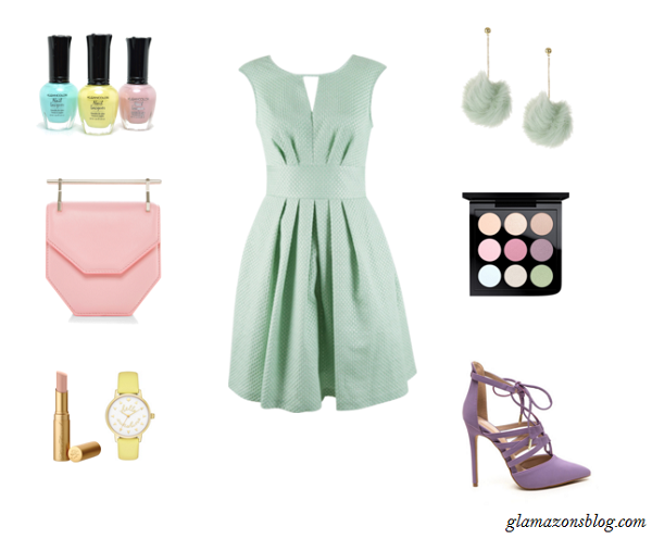 Easter-Sunday-Pastel-Skater-Dress-Lace-Up-Heels-Clutch-Fashion-Glamazonsblog