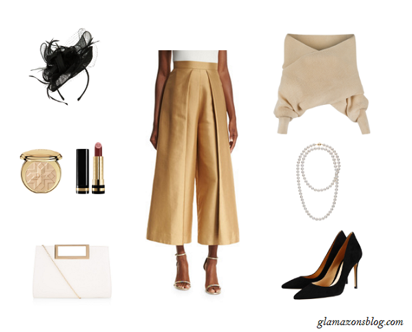 Easter-Sunday-Satin-Culottes-Knit-Sweater-Fashion-Glamazonsblog