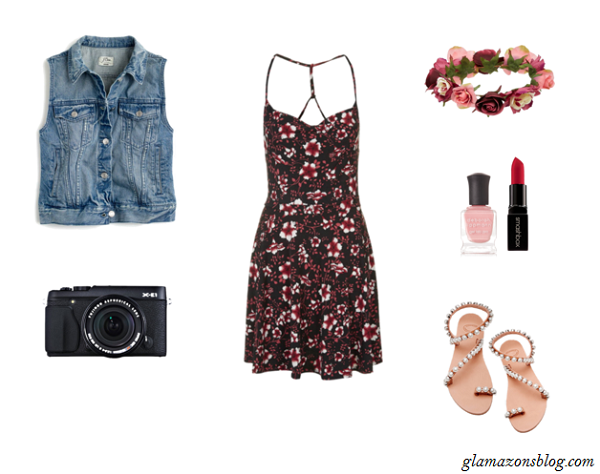 Floral-Skater-Dress-Denim-Jacket-Festival-Fashion-Glamazonsblog