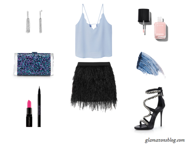 Fringe-Mini-Skirt-Powder-Blue-Crop-Top-Essence-Music-Festival-Fashion-Glamazonsblog