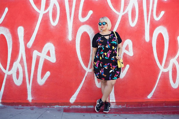 Gabi-Fresh-Graffiti-Print-Shirt-Dress-Sneakers-Fashion-Trend-Glamazonsblog
