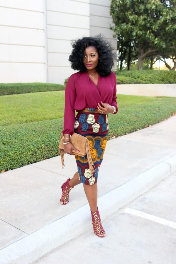 Irony-of-Ashi-Ankara-Pencil-Skirt-Burgundy-Blouse-Fashion-Glamazonsblog