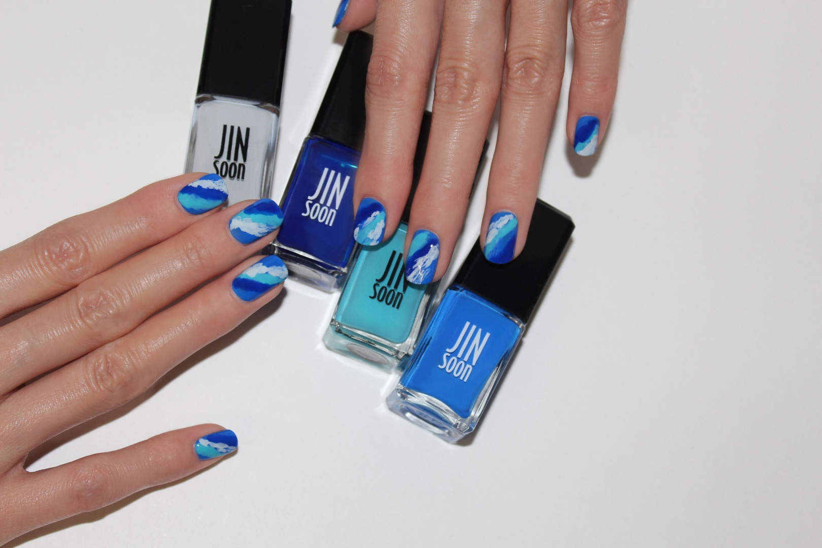 JINsoon Nail Look Awesome Blues