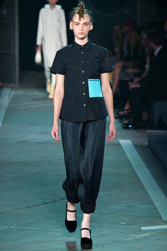 Marc-by-Marc-Jacobs-Spring-2015-NYFW-Black-Button-Up-Patchwork-Harem-Pants-Glamazonsblog