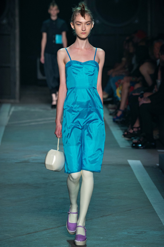 Marc-by-Marc-Jacobs-Spring-2015-NYFW-Blue-Spaghetti-Strap-Dress-Platform-Mary-Janes-Glamazonsblog