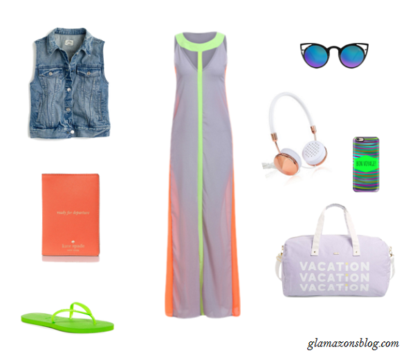 Memorial-Day-Travel-Plans-Maxi-Dress-Jean-Vest-Luggage-Fashion-Glamazonsblog
