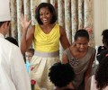 Found: Michelle Obama's Mother's Day Rachel Roy Spring 2012 June Sleeveless Dress in Yellow