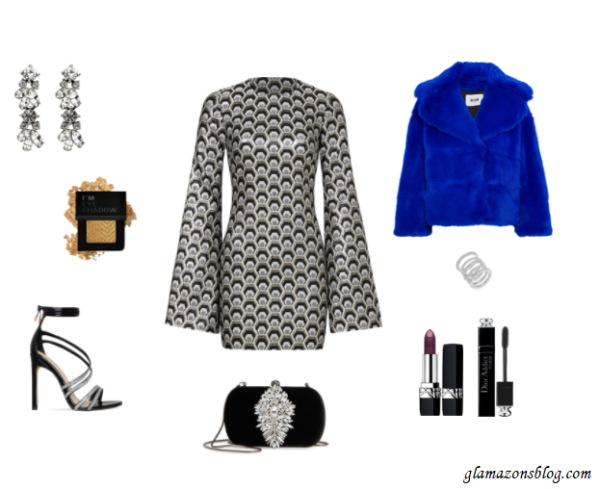 New-Years-Eve-Outfit-Idea-Hexagon-Print-Dress-Fashion-Glamazonsblog