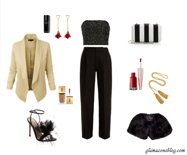 New-Years-Eve-Outfit-Idea-Tailored-Trousers-Tuxedo-Blazer-Embellished-Bustier-Fashion-Glamazonsblog