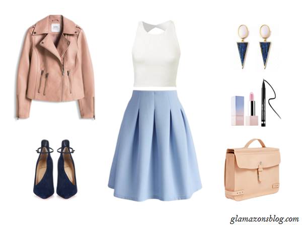 Pastel-Midi-Skirt-Leather-Jacket-Briefcase-Office-Outfit-Ideas-Spring-Glamazonsblog