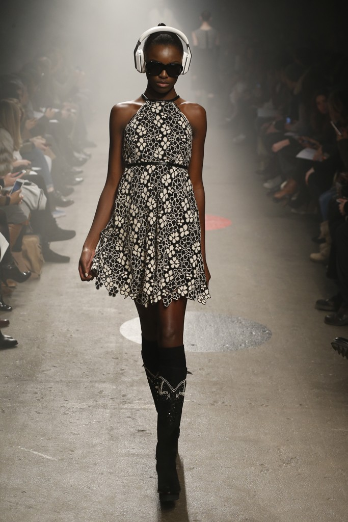 Tracy-Reese-Fall-2015-Collection-Belted-Floral-Lace-Dress-Studded-Platform-Boots-NYFW-Glamazonsblog