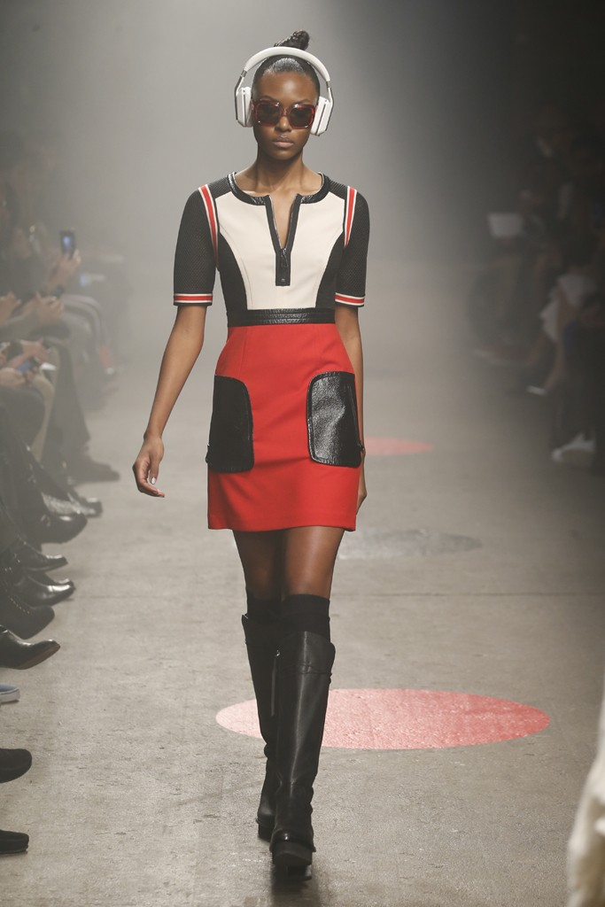Tracy-Reese-Fall-2015-Collection-Colorblock-Dress-Leather-Accents-Leather-Platform-Knee-High-Boots-NYFW-Glamazonsblog