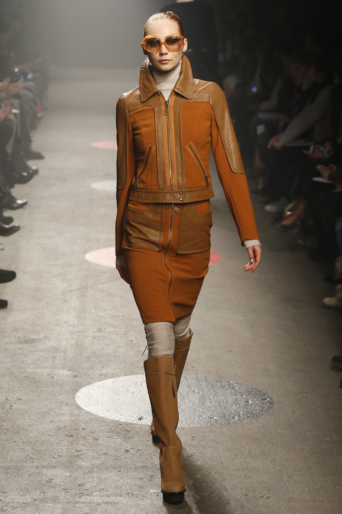 Tracy-Reese-Fall-2015-Collection-Leather-Accented-Skirt-Set-Suede-Knee-High-Boots-NYFW-Glamazonsblog