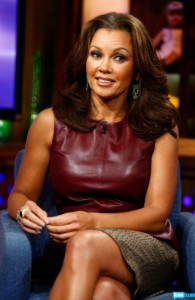 Vanessa-Williams- Watch-What-Happens- Live-with-andy-cohen-oxblood-Leather- Peplum-Top-and-Crocodile-print- Skirt-2