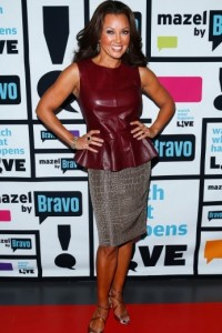 Vanessa-Williams- Watch-What-Happens- Live-with-andy-cohen-oxblood-Leather- Peplum-Top-and-Crocodile-print- Skirt