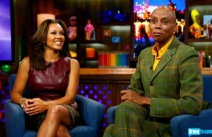 Vanessa-Williams- Watch-What-Happens- Live-with-andy-cohen-oxblood-Leather- Peplum-Top-and-Crocodile-print- Skirt-3