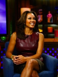 Vanessa-Williams- Watch-What-Happens- Live-with-andy-cohen-oxblood-Leather- Peplum-Top-and-Crocodile-print- Skirt-4
