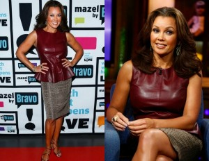 Vanessa-Williams- Watch-What-Happens- Live-with-andy-cohen-oxblood-Leather- Peplum-Top-and-Crocodile-print- Skirt-6